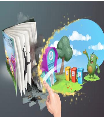 augmented reality education game Ecogotchi